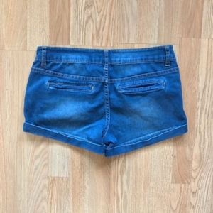 Celebrity Pink Shorts - Celebrity Pink Juniors Blue Cuffed Jean Shorts 9